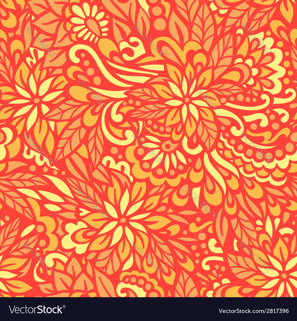 Golden autumn seamless decorative pattern vector | Price: 1 Credit (USD $1)