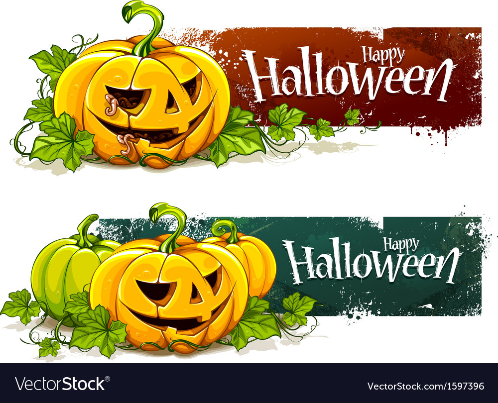 Grunge halloween banners vector | Price: 1 Credit (USD $1)