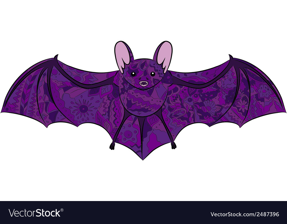 Hand drawing bat vector | Price: 1 Credit (USD $1)