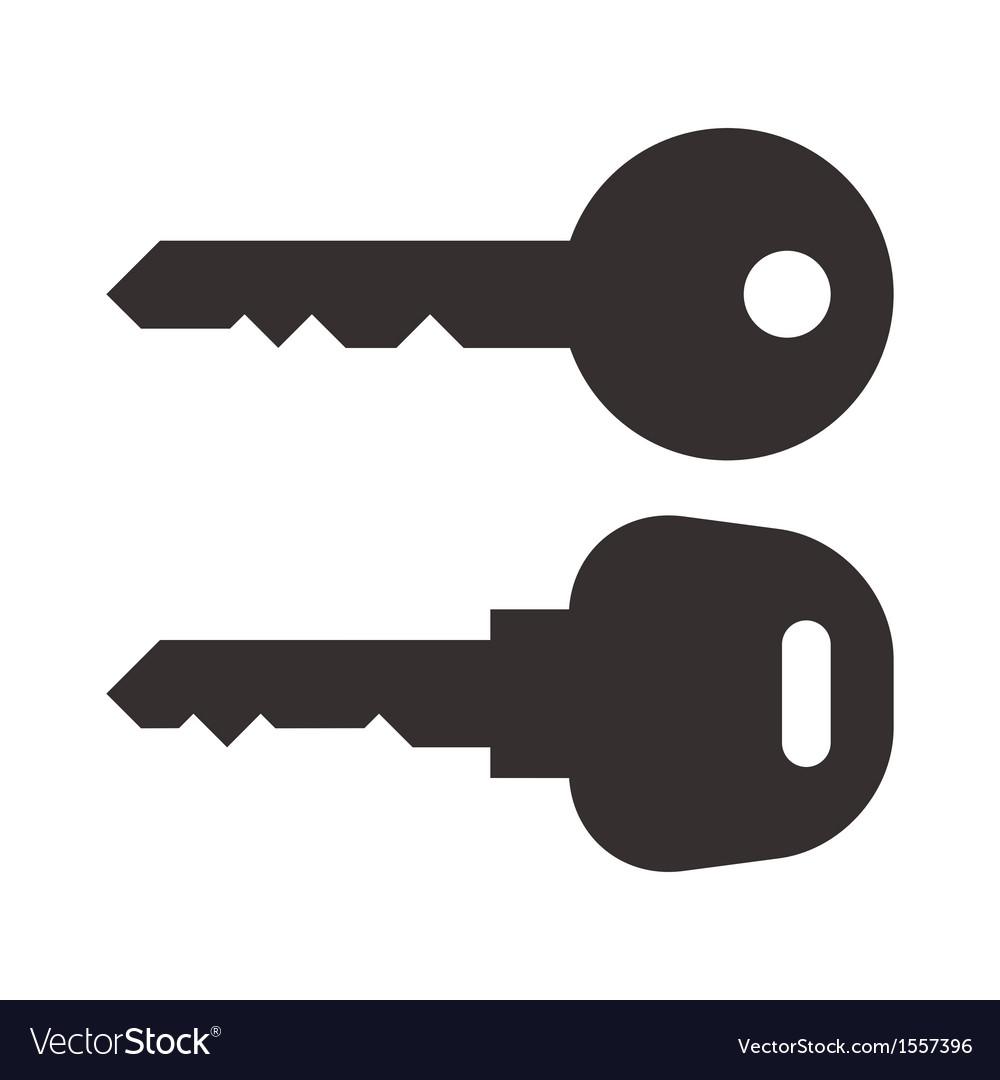 Key and car key symbols vector | Price: 1 Credit (USD $1)