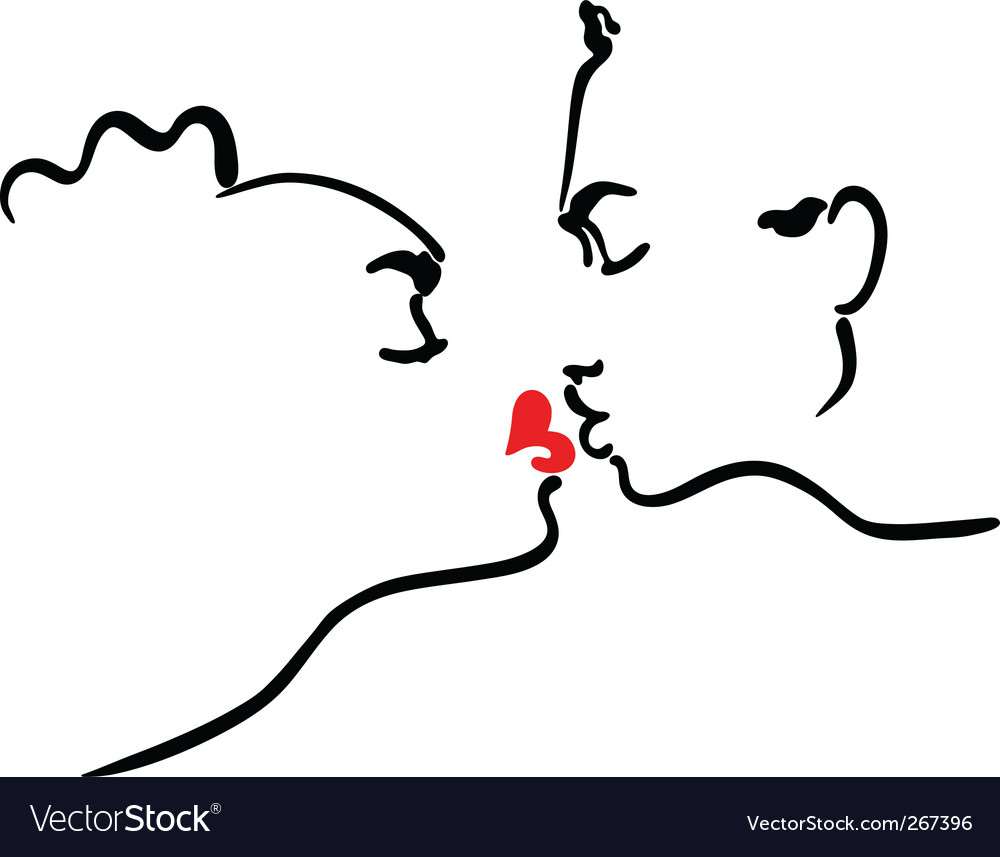 Kissing men and women vector | Price: 1 Credit (USD $1)