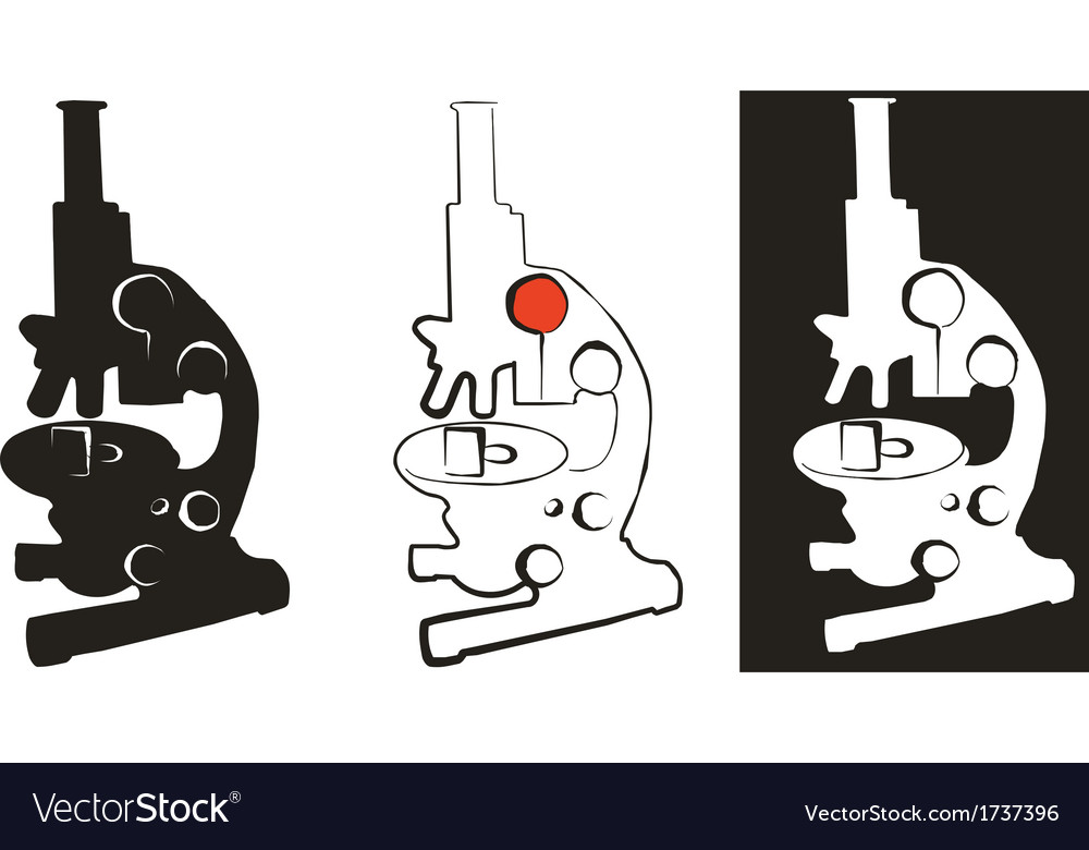 Medical microscope set 01 vector | Price: 1 Credit (USD $1)