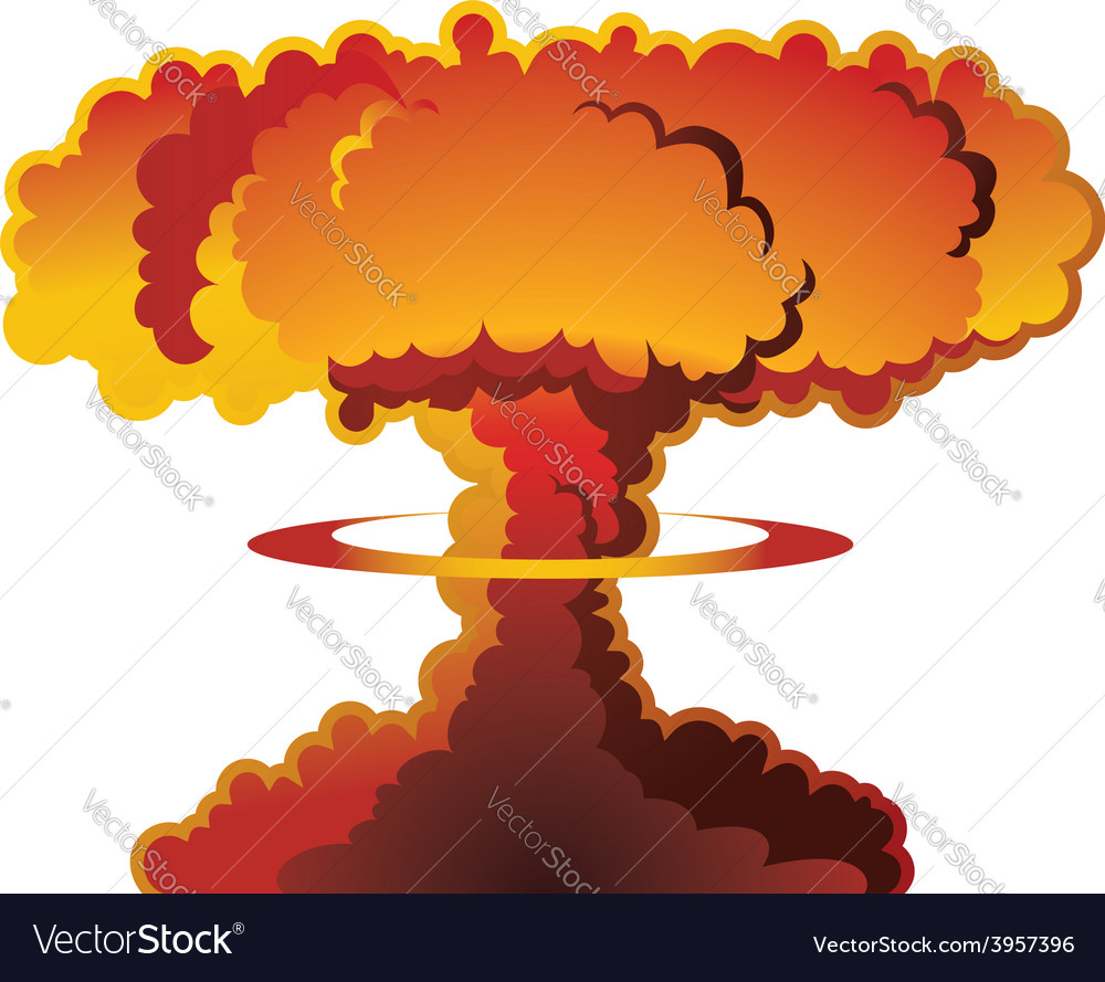 Nuclear explosion mushroom cloud vector | Price: 1 Credit (USD $1)