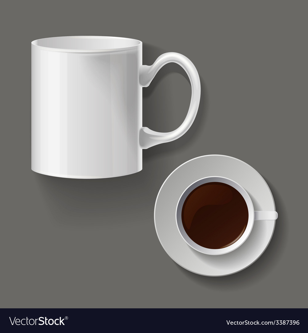 Realistic classic white cup vector | Price: 1 Credit (USD $1)