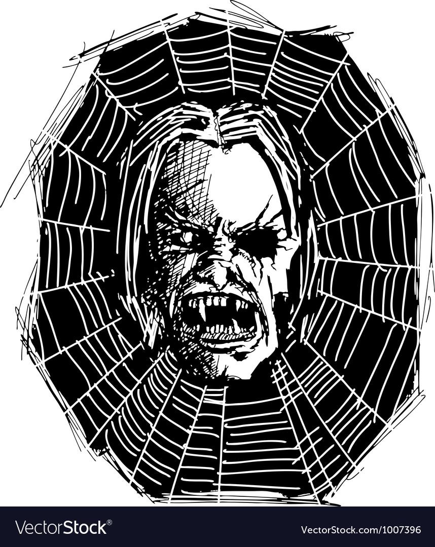 Web vampire vector | Price: 1 Credit (USD $1)