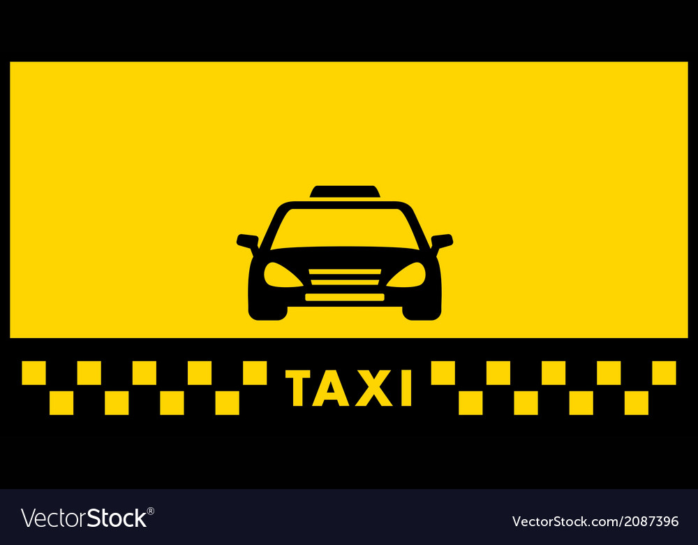 Yellow taxi background vector | Price: 1 Credit (USD $1)
