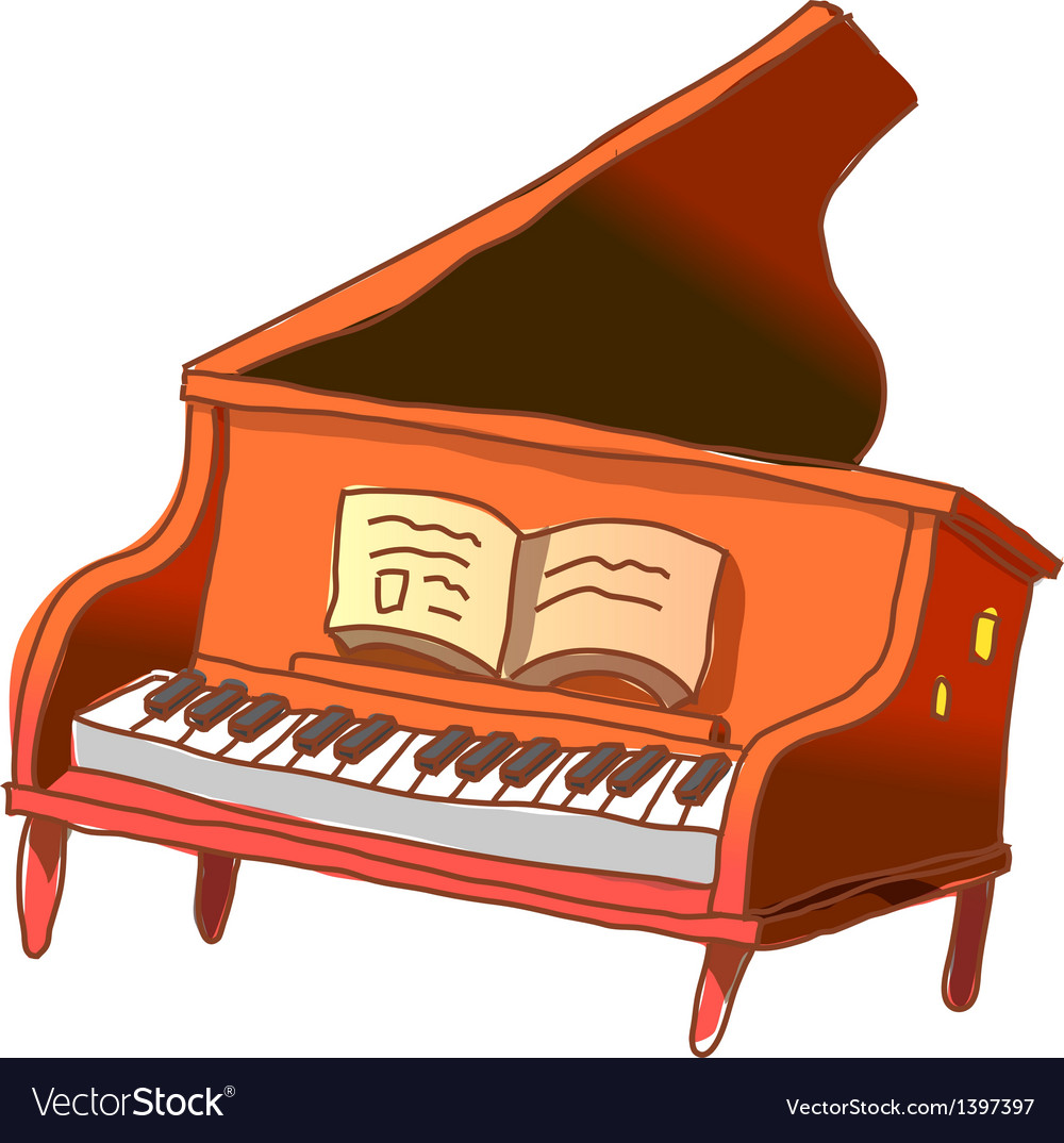 A gland piano is placed vector | Price: 1 Credit (USD $1)