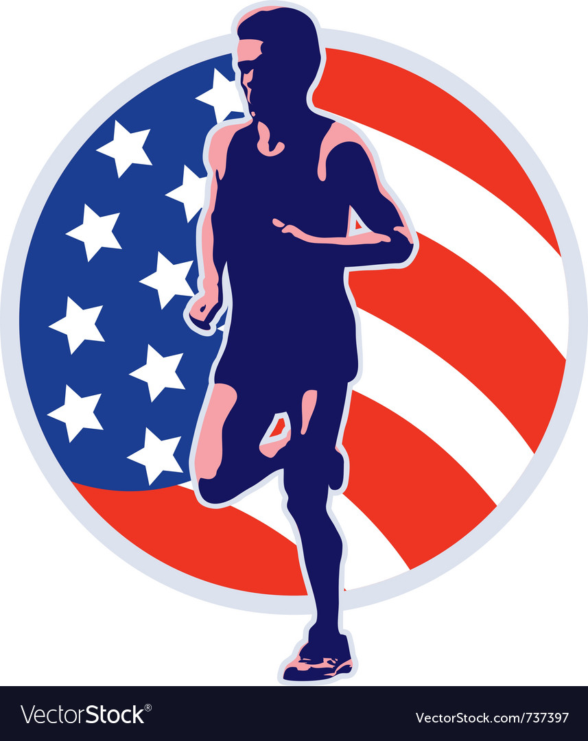 American marathon vector | Price: 1 Credit (USD $1)