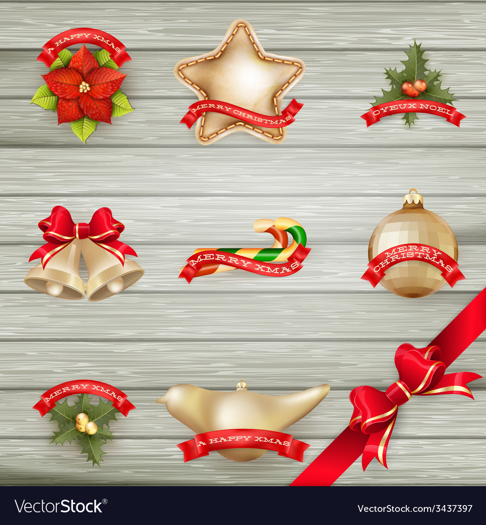 Christmas decor objects collection eps 10 vector | Price: 3 Credit (USD $3)