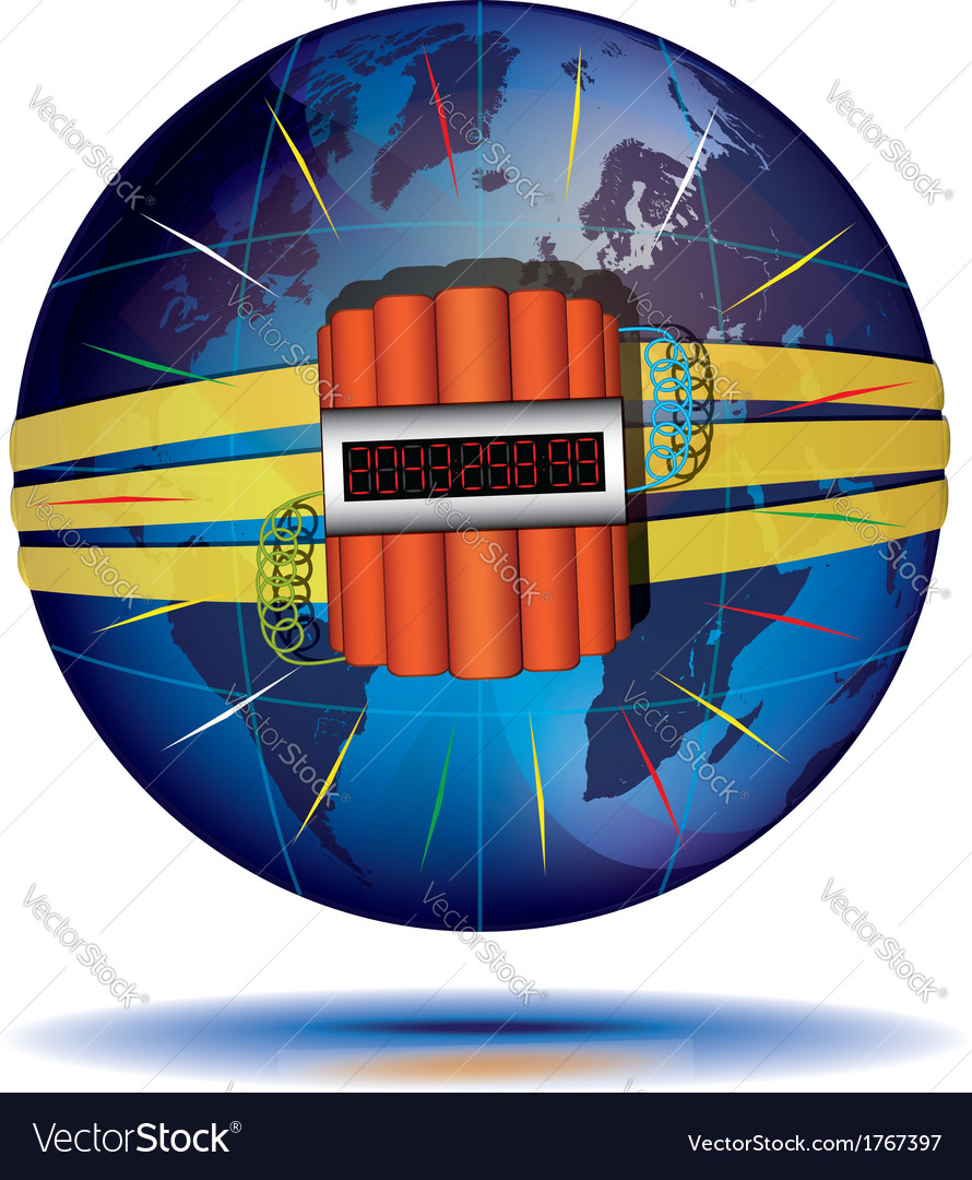 Countdown to global catastrophe vector | Price: 1 Credit (USD $1)