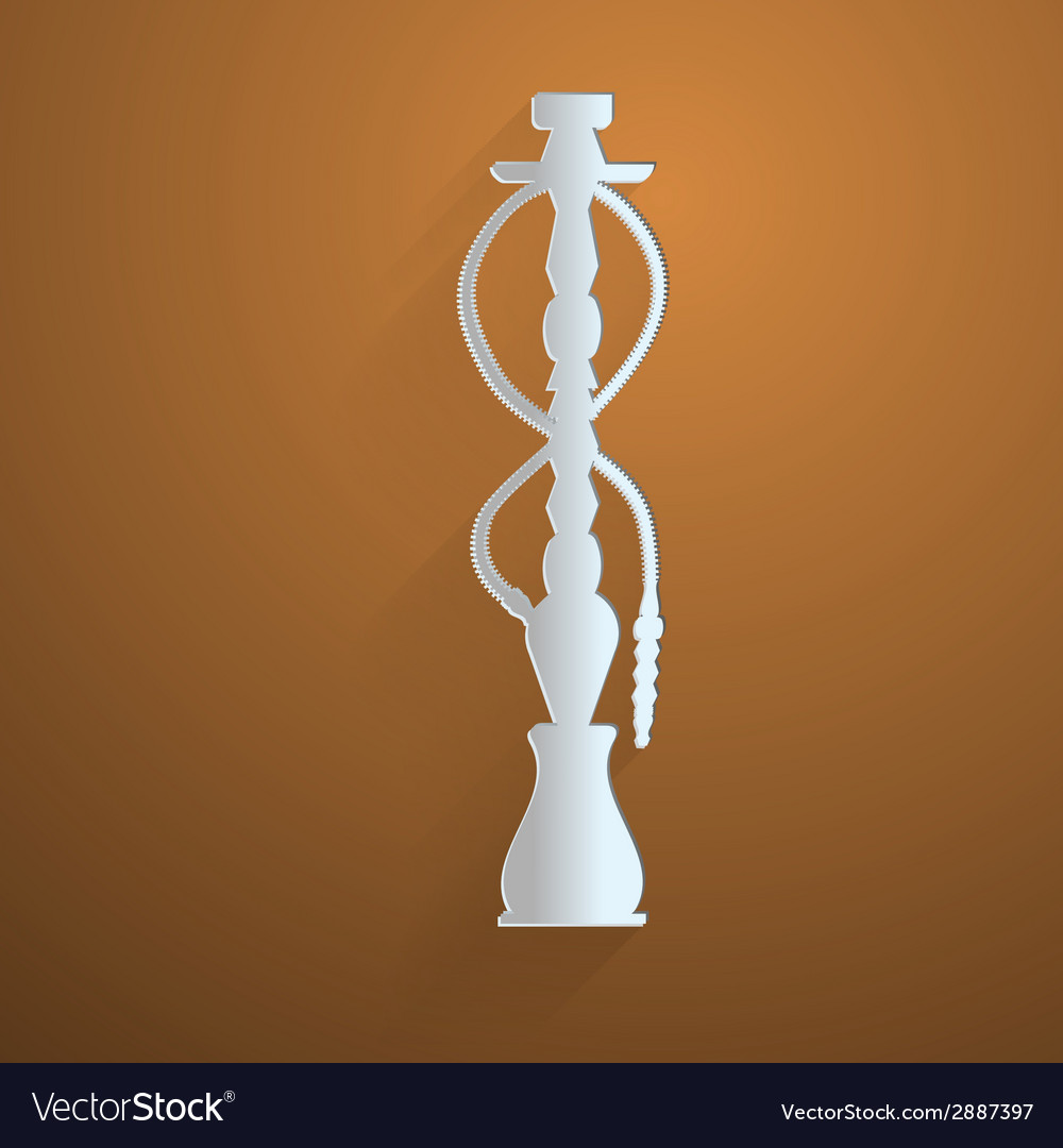 Flat icon for hookah vector | Price: 1 Credit (USD $1)