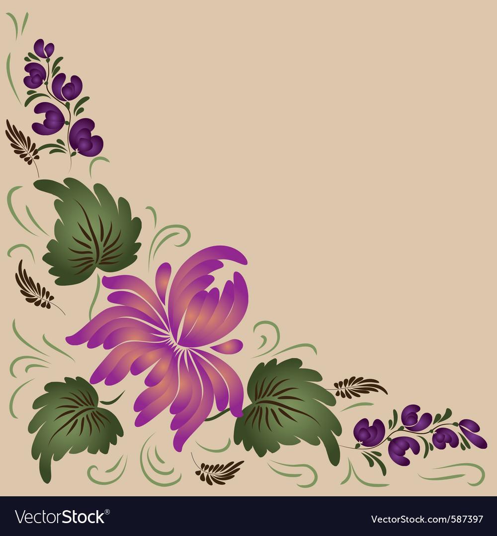 Flower beige vector | Price: 1 Credit (USD $1)