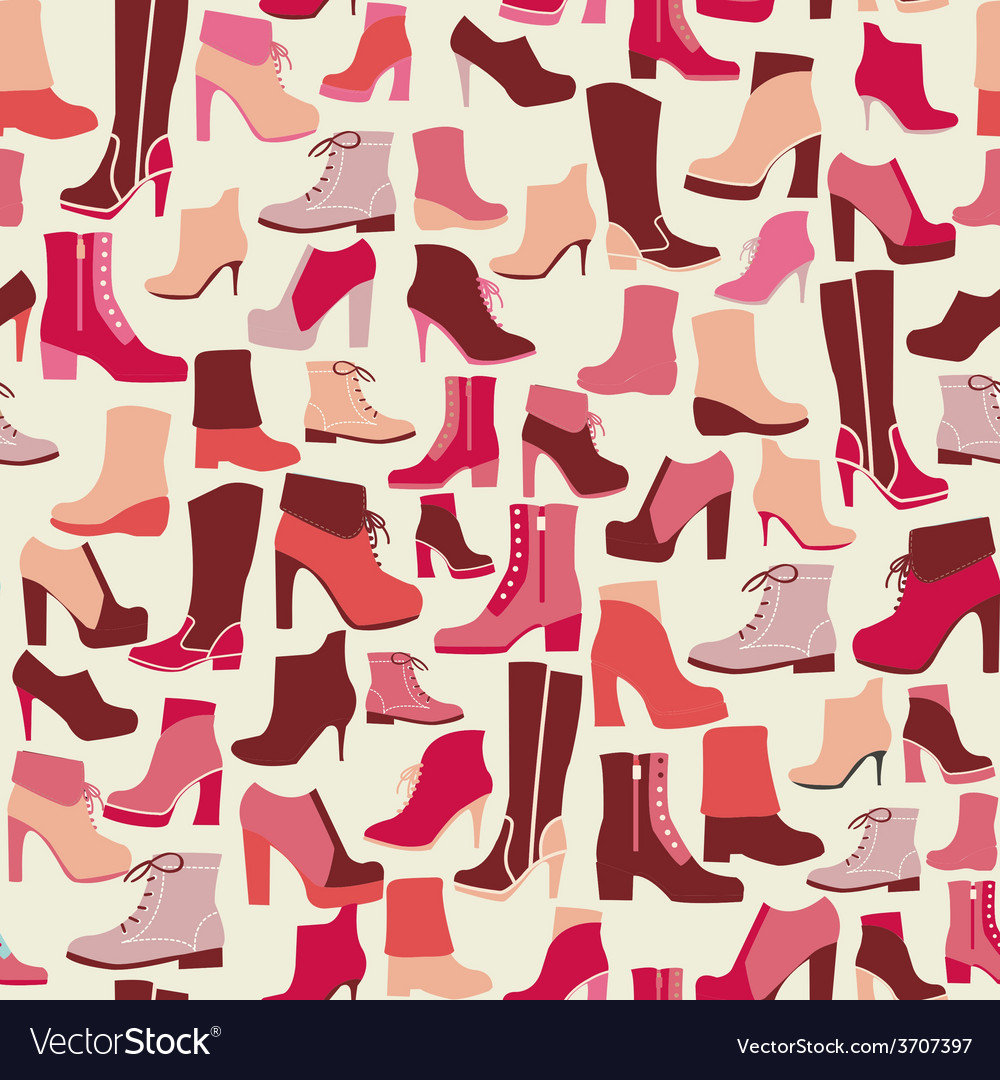 Pattern shoes spring winter shoes vector   Price: 1 Credit (USD $1)