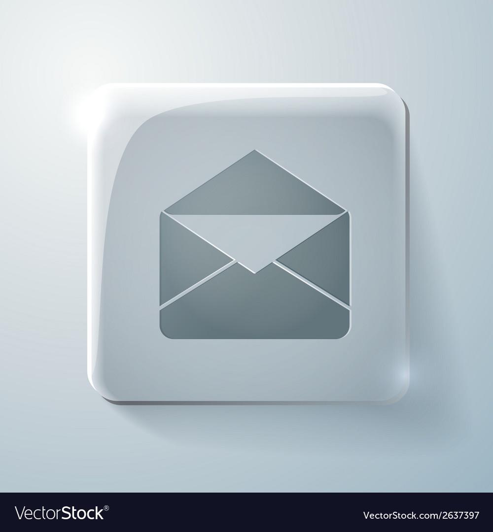 Postal envelope glass square icon vector | Price: 1 Credit (USD $1)