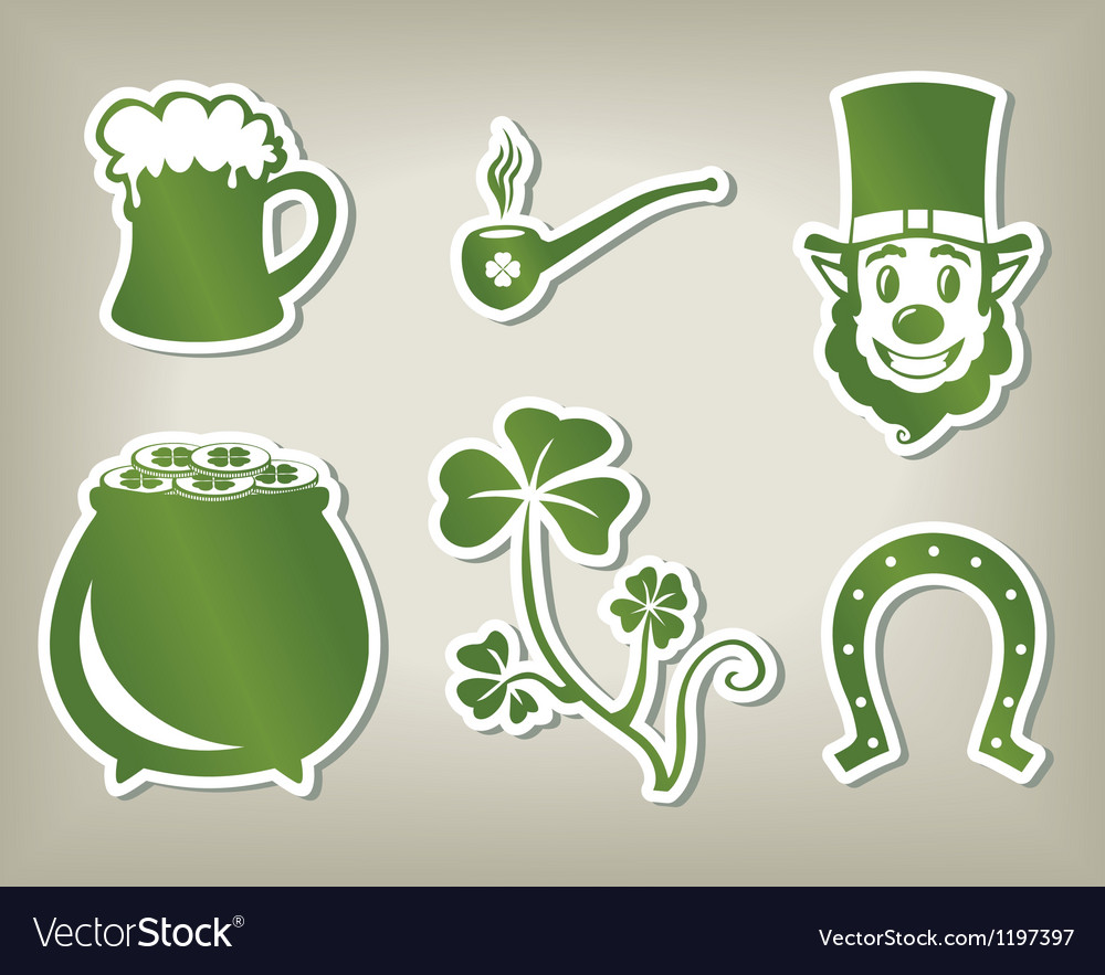 Set of icon of sant patricks day vector | Price: 1 Credit (USD $1)