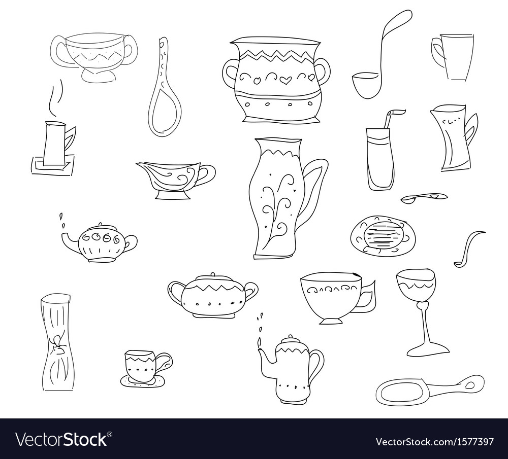 Set of kitchen tools vector | Price: 1 Credit (USD $1)