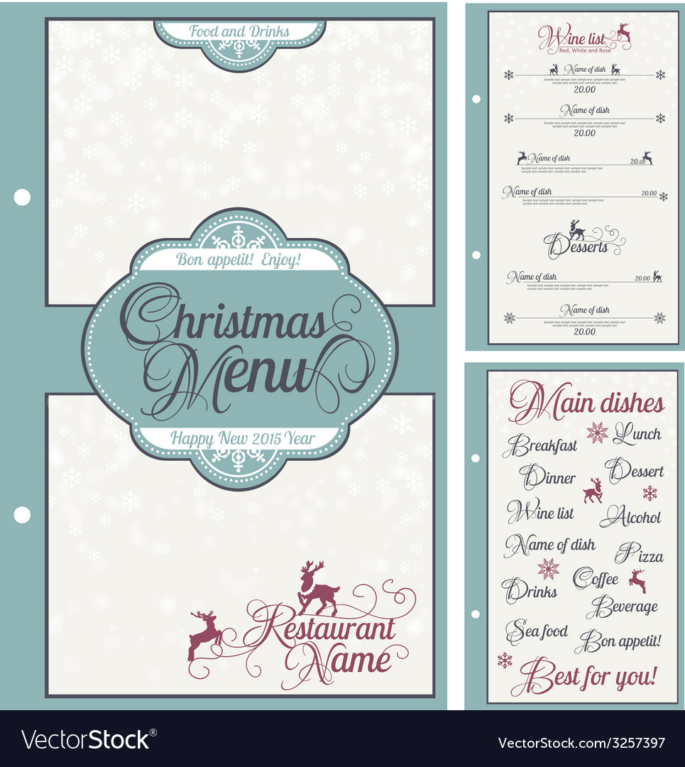 Special christmas festive menu design vector | Price: 1 Credit (USD $1)
