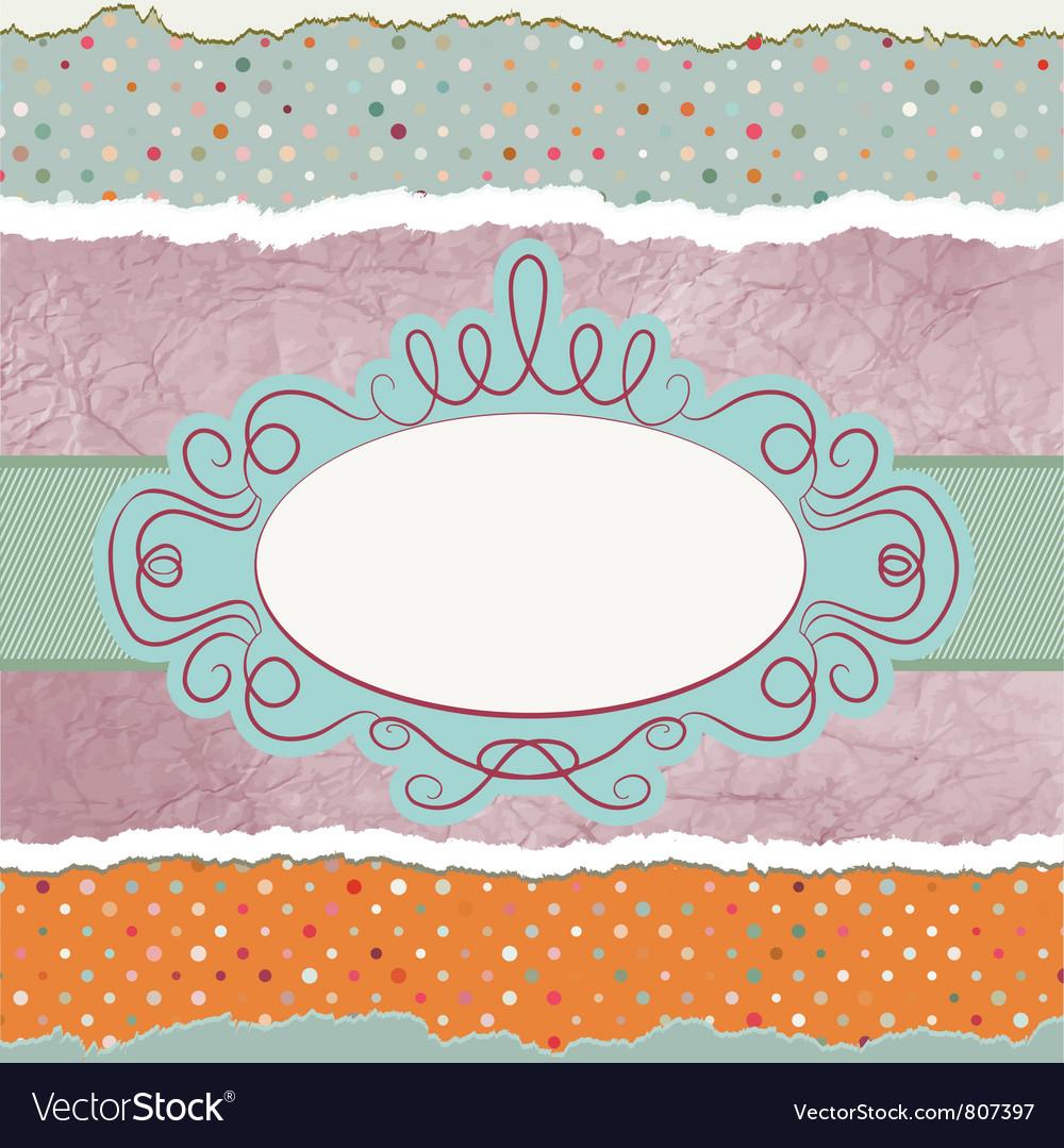 Vintage polka dots background vector | Price: 1 Credit (USD $1)