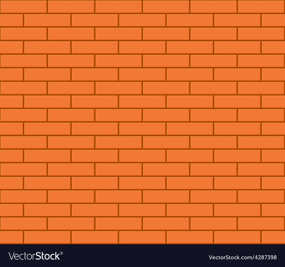 Abstract seamless orange flat brick wall vector | Price: 1 Credit (USD $1)