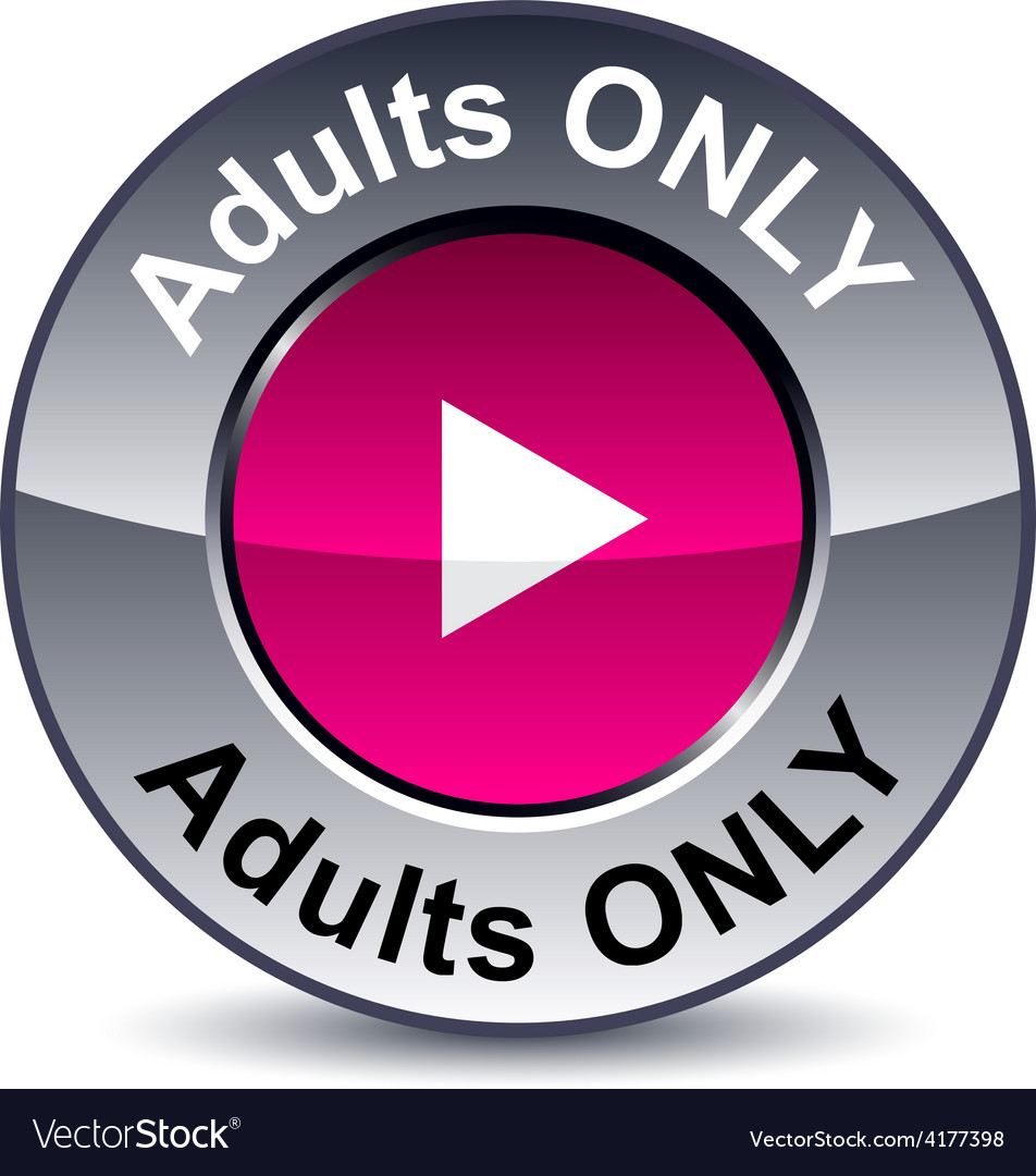 Adults only round button vector | Price: 1 Credit (USD $1)