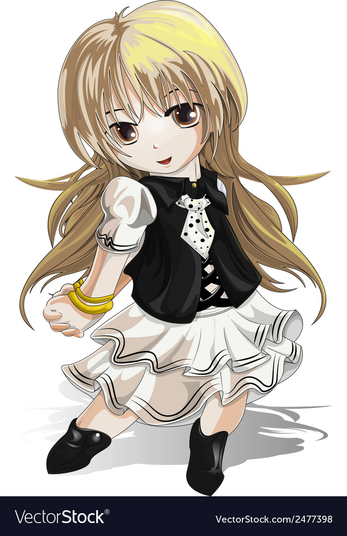 Anime girl vector | Price: 1 Credit (USD $1)