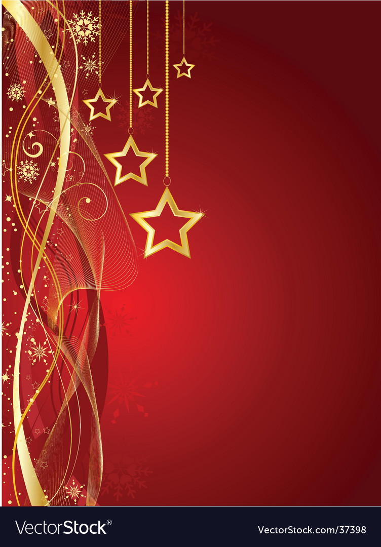 Christmas star background vector | Price: 1 Credit (USD $1)