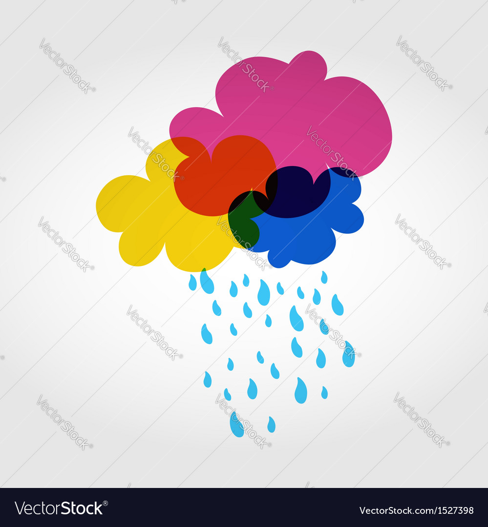 Colorful eco friendly clouds vector | Price: 1 Credit (USD $1)