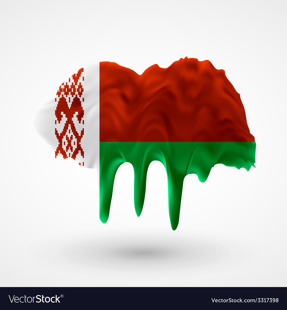 Flag of belarus painted colors vector   Price: 1 Credit (USD $1)