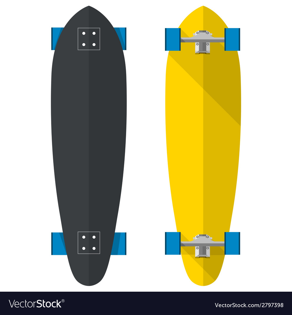 Flat of oval longboards vector | Price: 1 Credit (USD $1)