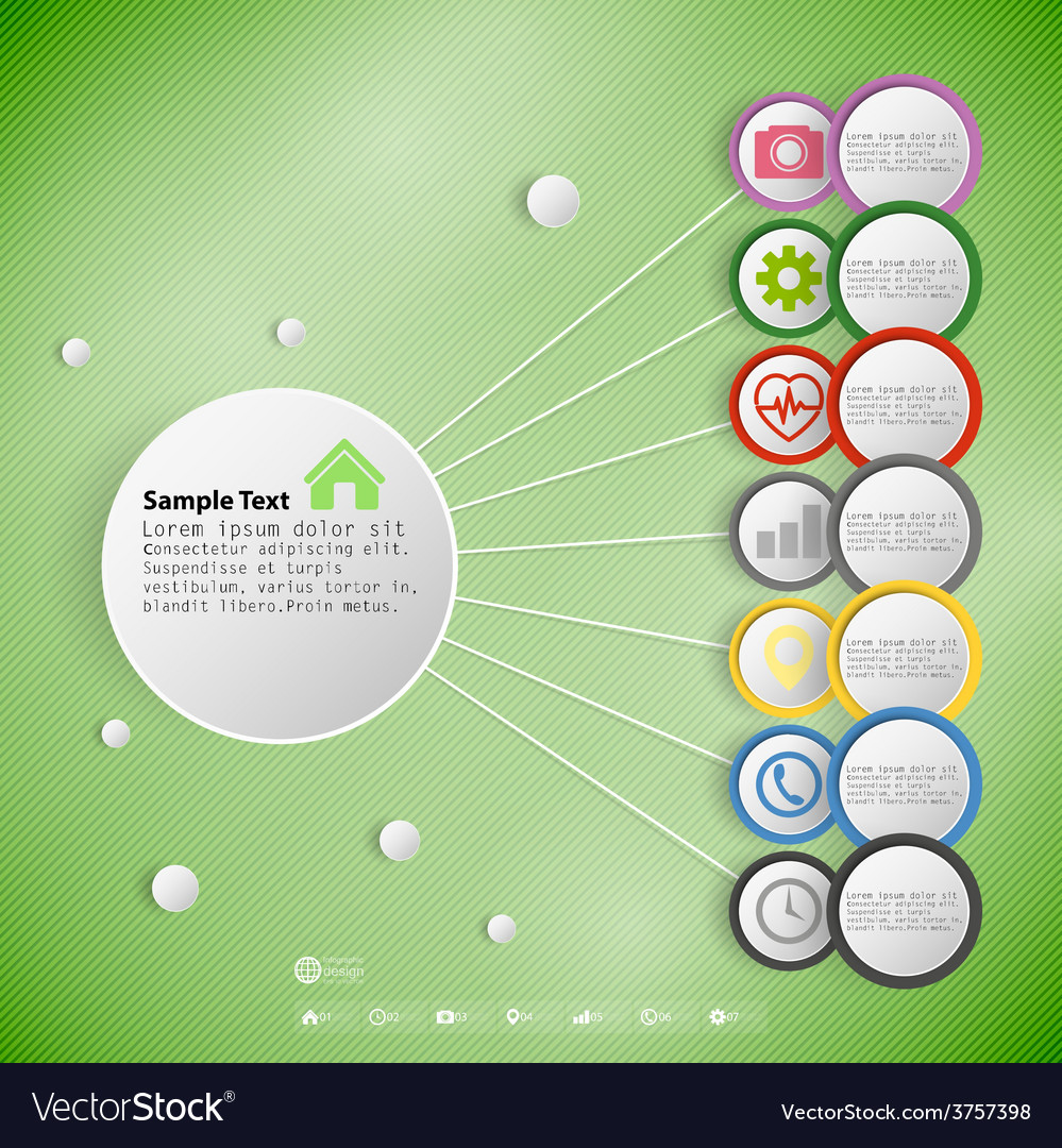 Infographic with colored circles for business vector | Price: 1 Credit (USD $1)