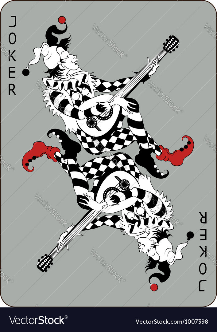 Joker playing card vector | Price: 3 Credit (USD $3)