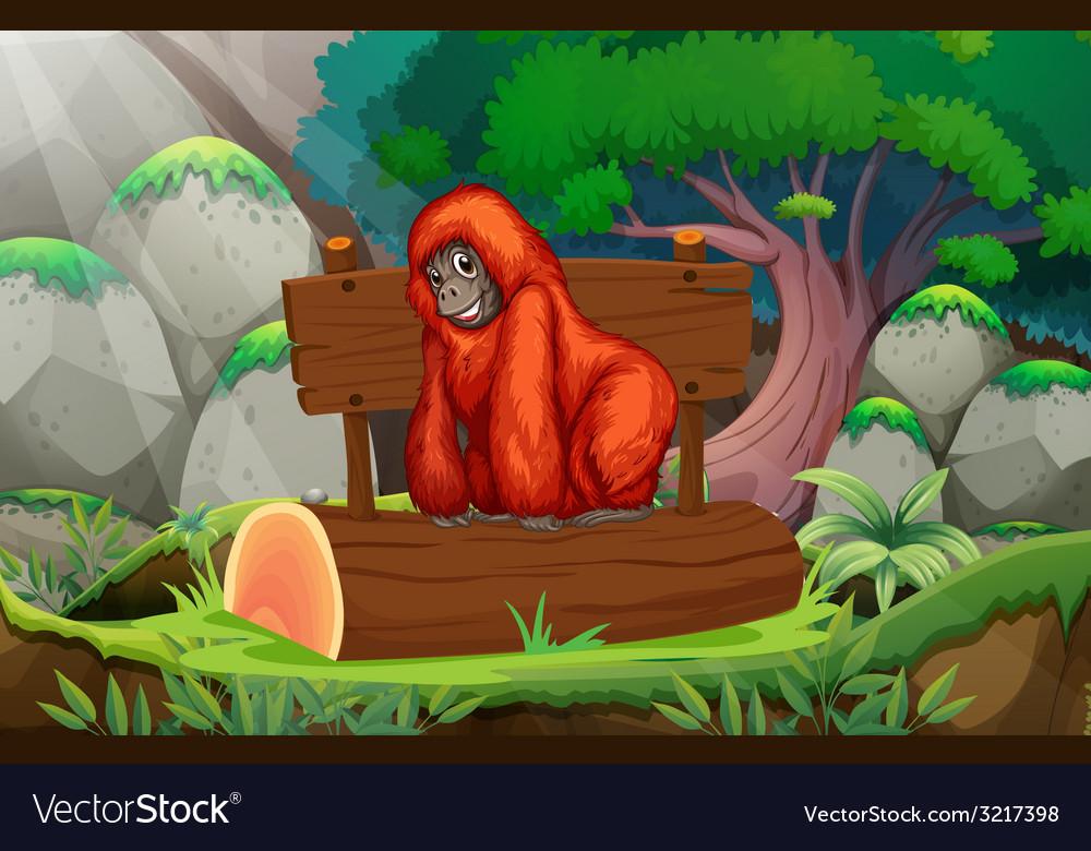 Orangutan vector | Price: 3 Credit (USD $3)