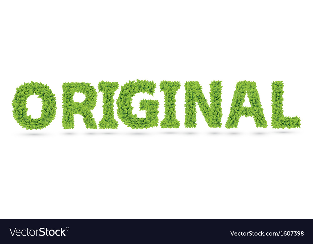 Original word made of green leafs vector | Price: 1 Credit (USD $1)