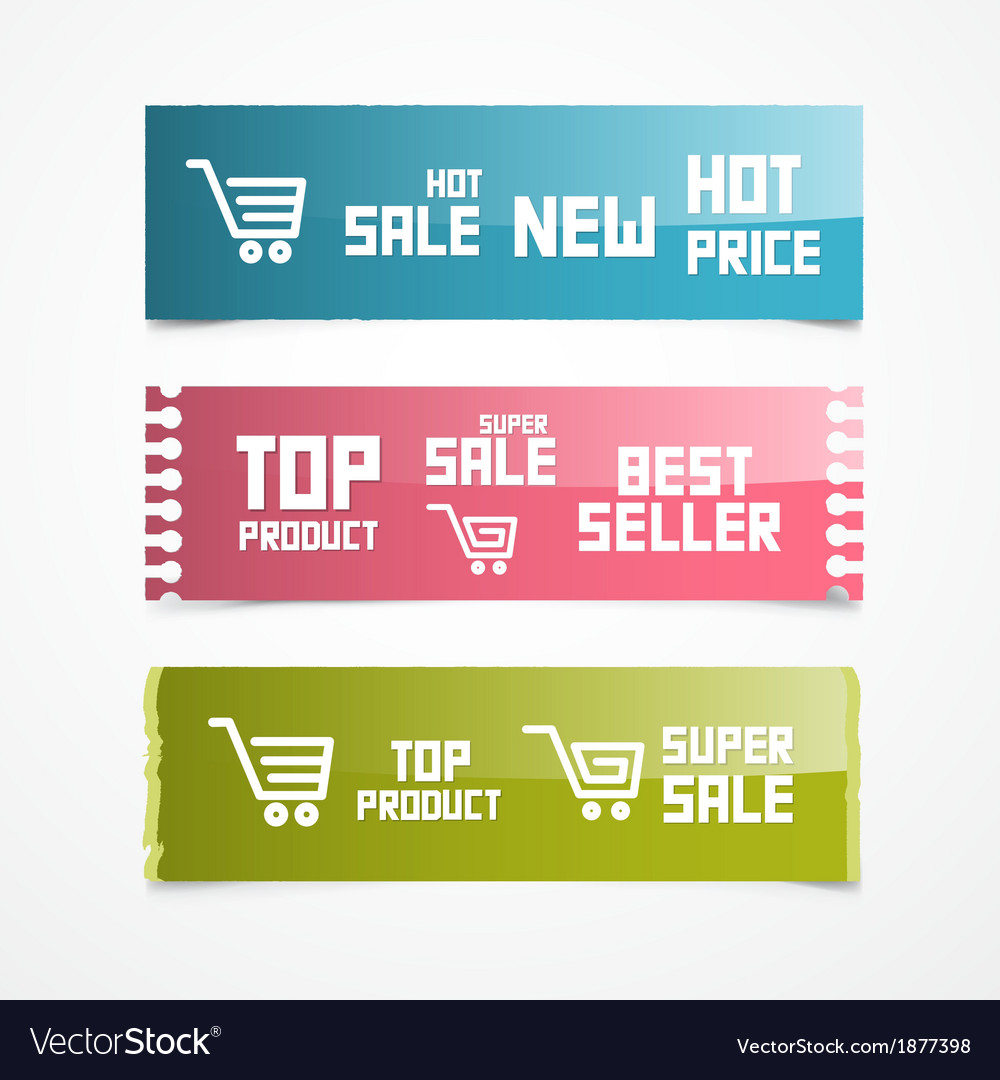 Paper labels tags stickers vector | Price: 1 Credit (USD $1)