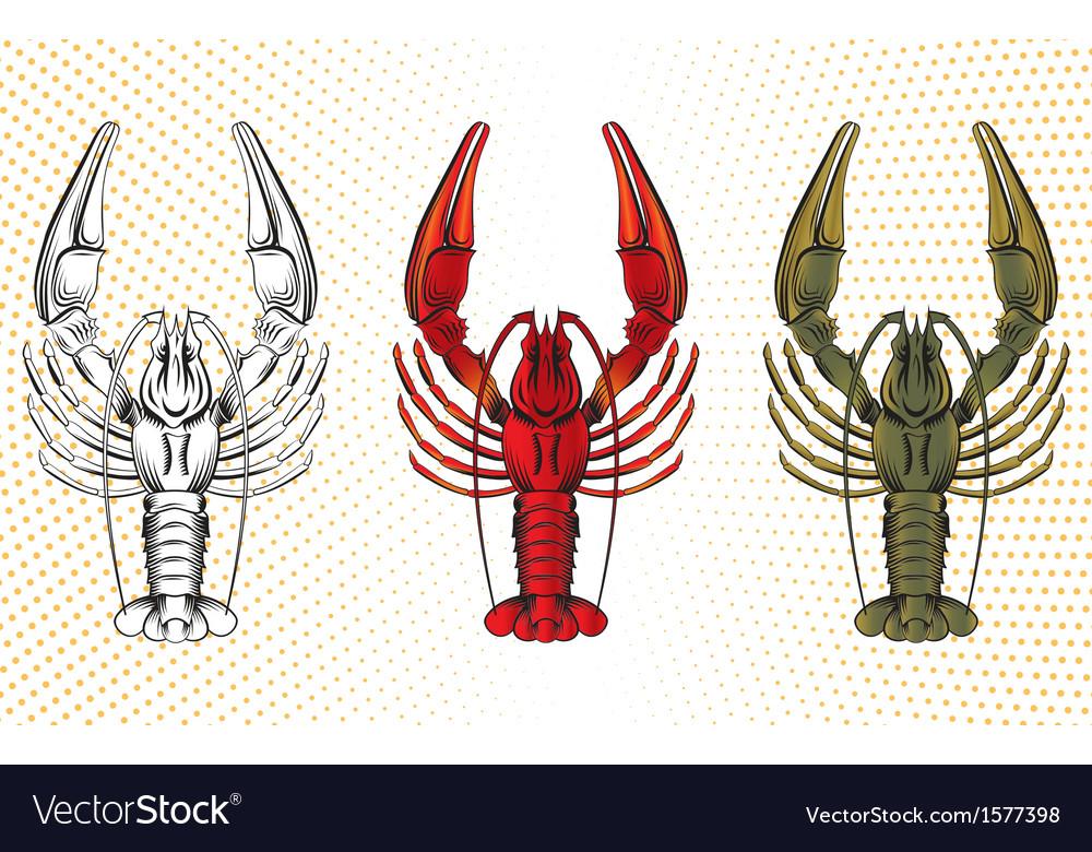 Set of crawfish vector | Price: 1 Credit (USD $1)