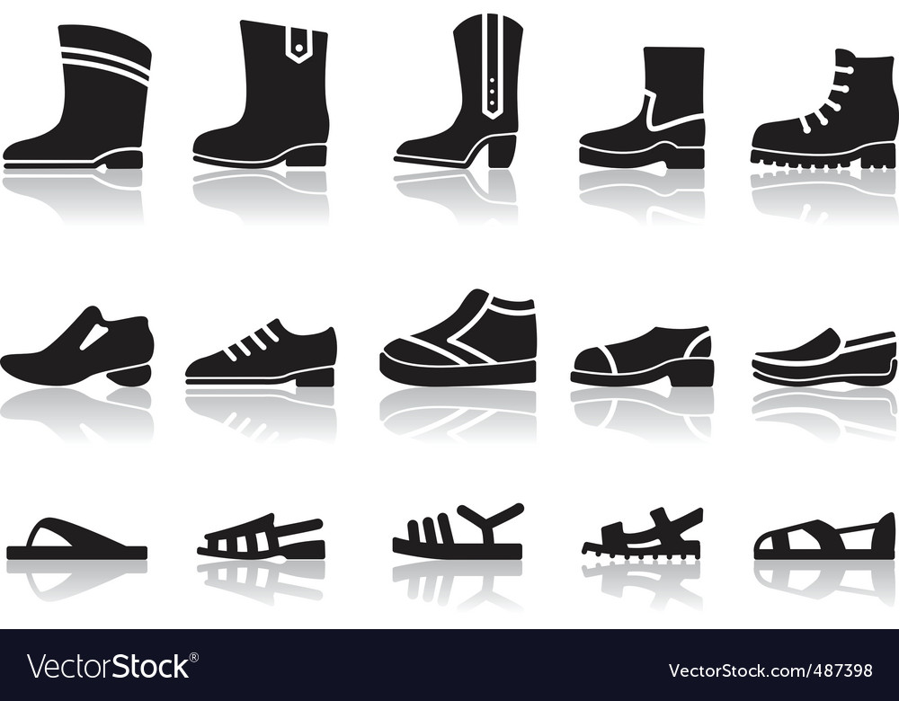 Shoes icons vector | Price: 1 Credit (USD $1)