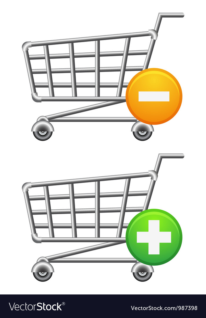 Shoppingcart and button vector | Price: 1 Credit (USD $1)