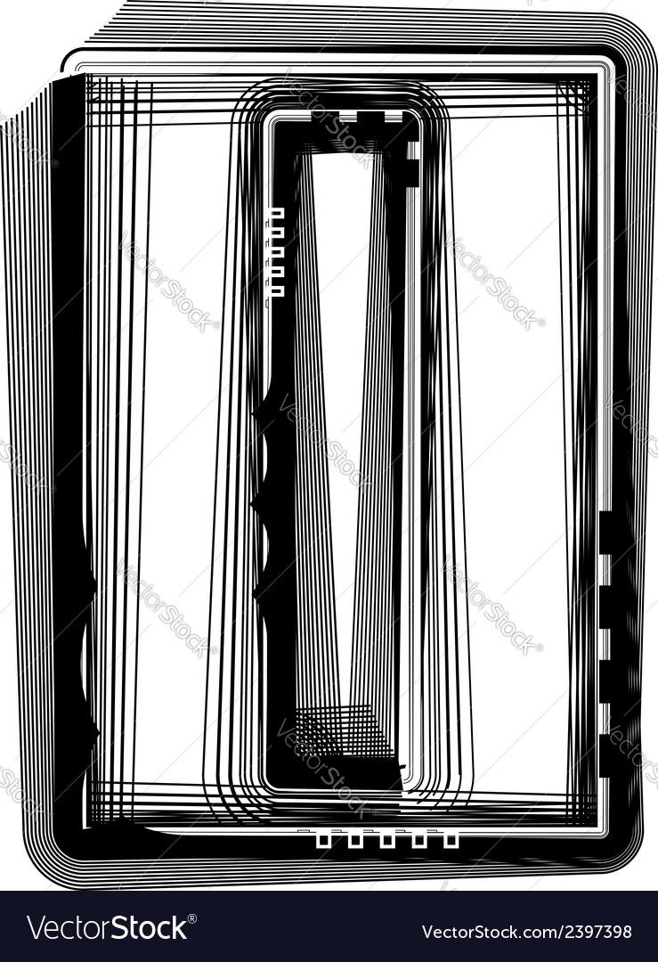 Striped font letter l vector | Price: 1 Credit (USD $1)