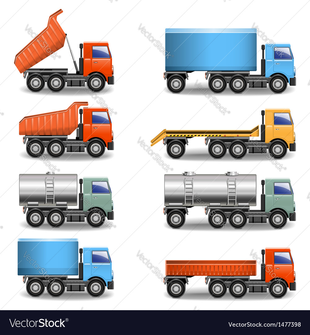 Truck icons vector | Price: 3 Credit (USD $3)