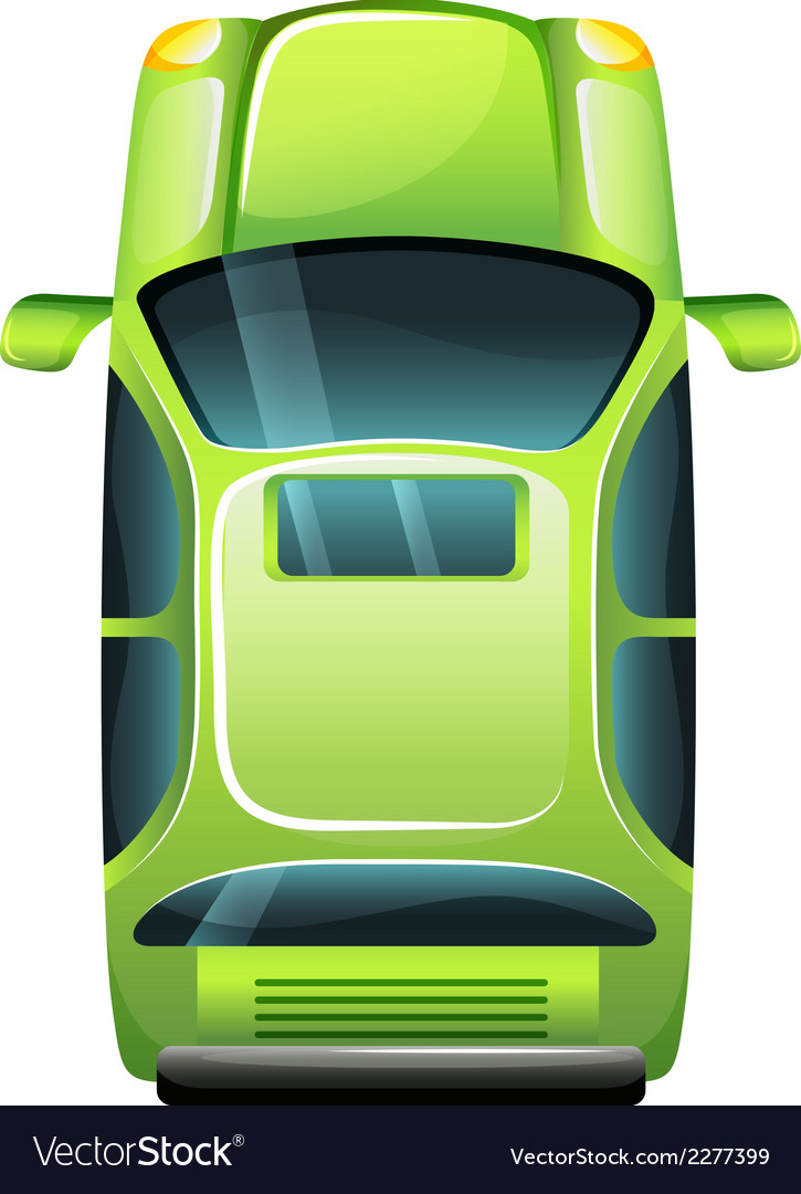 A green vehicle vector | Price: 1 Credit (USD $1)