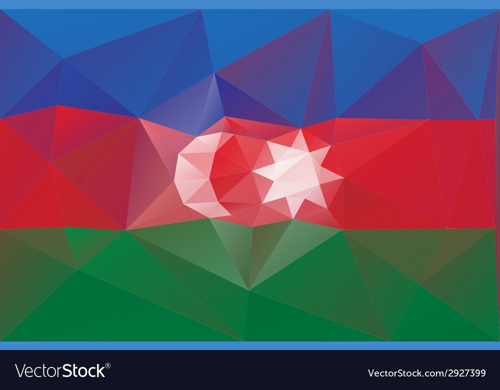 Azerbaijan flag vector | Price: 1 Credit (USD $1)
