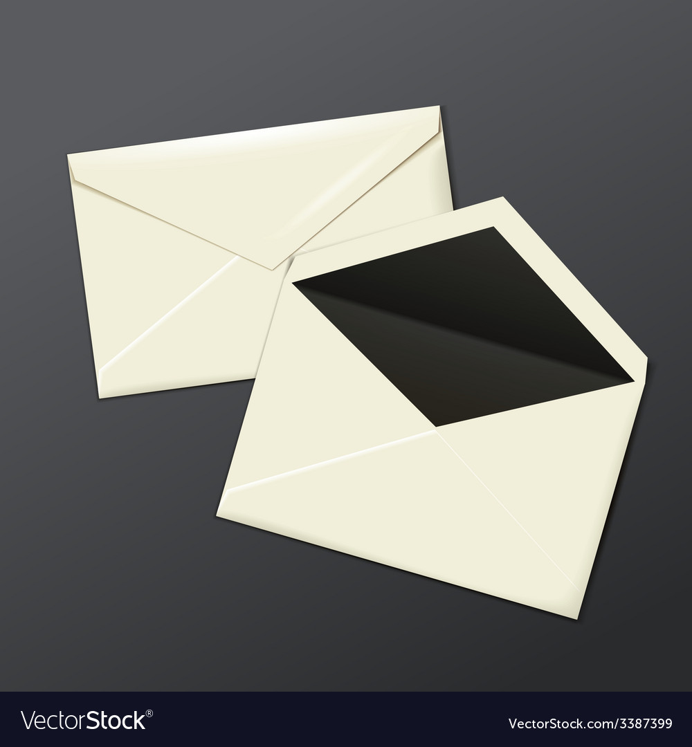 Blank white envelopes opened and close vector | Price: 1 Credit (USD $1)