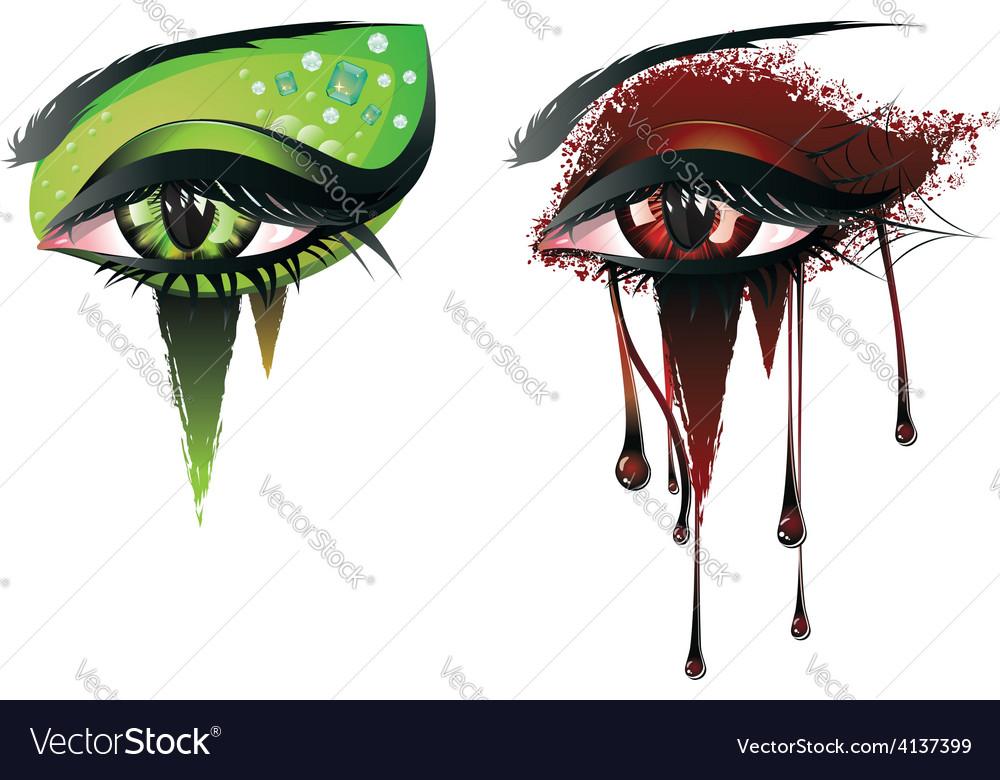 Carnival vampire eyes vector | Price: 1 Credit (USD $1)