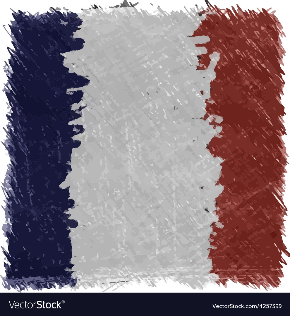 Flag of france handmade square shape vector | Price: 1 Credit (USD $1)