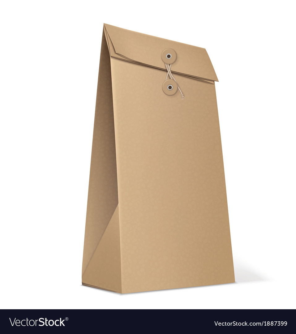 Paper bag isolated on white vector | Price: 1 Credit (USD $1)