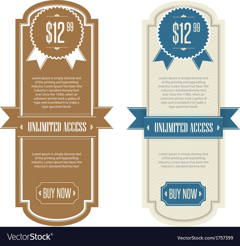 Retro price banner vector | Price: 1 Credit (USD $1)