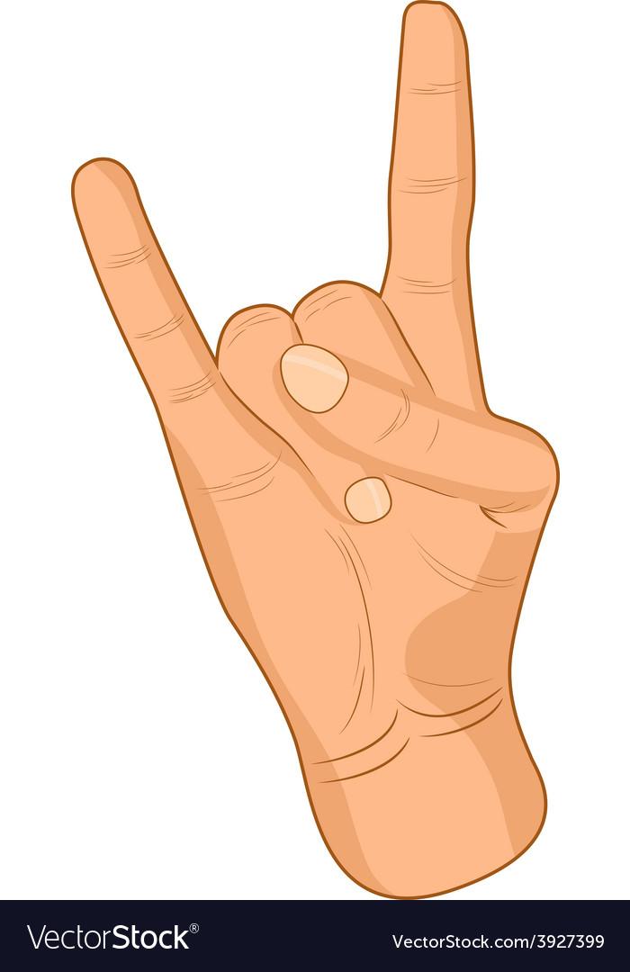 Rock sign vector | Price: 1 Credit (USD $1)