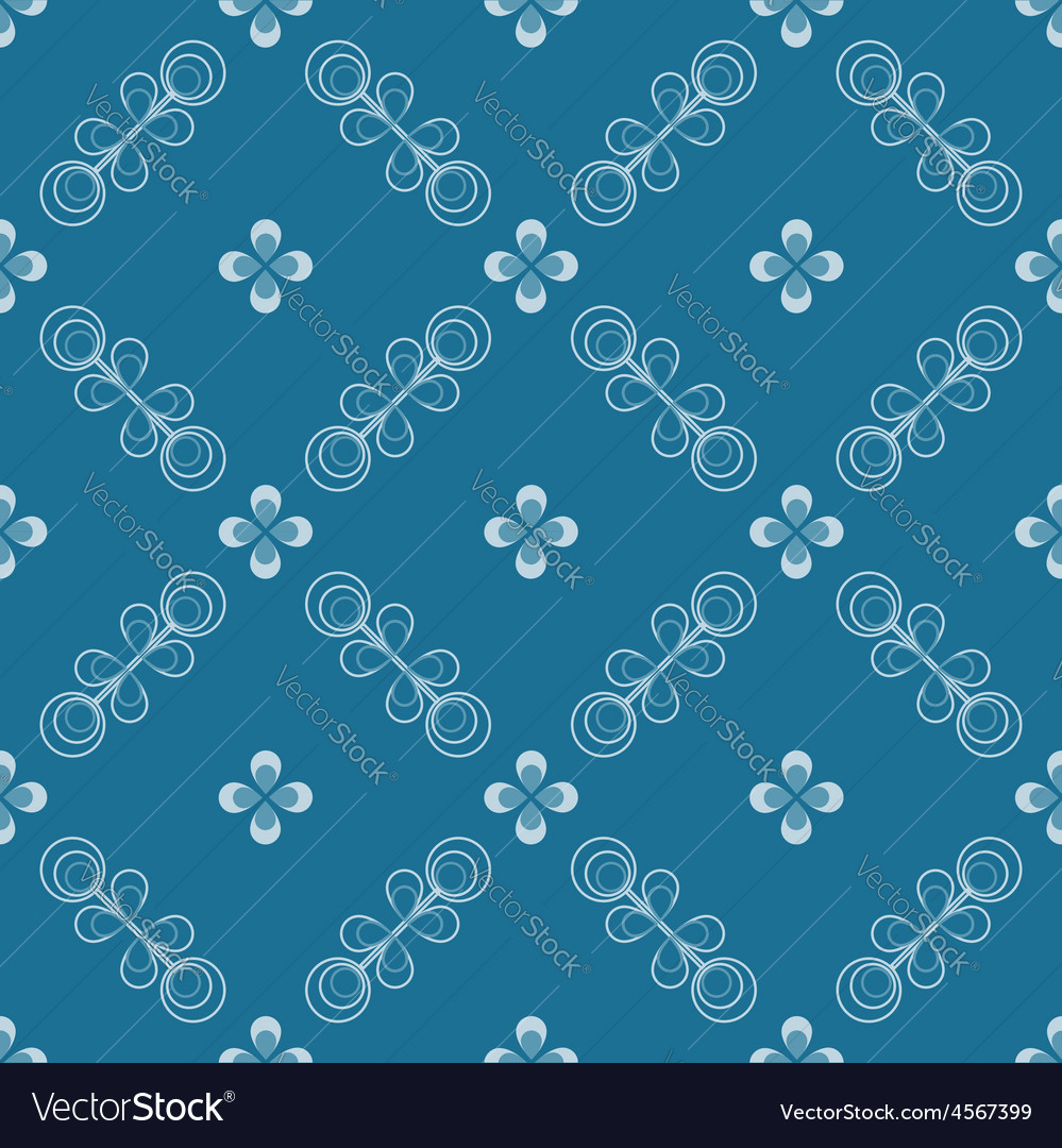 Seamless floral pattern geometric flowers vector | Price: 1 Credit (USD $1)