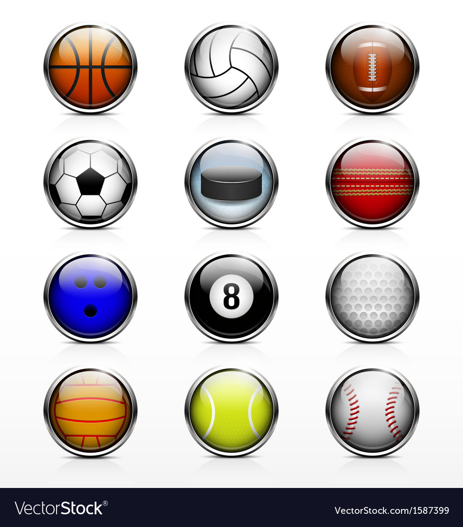 Sports ball icon vector | Price: 1 Credit (USD $1)