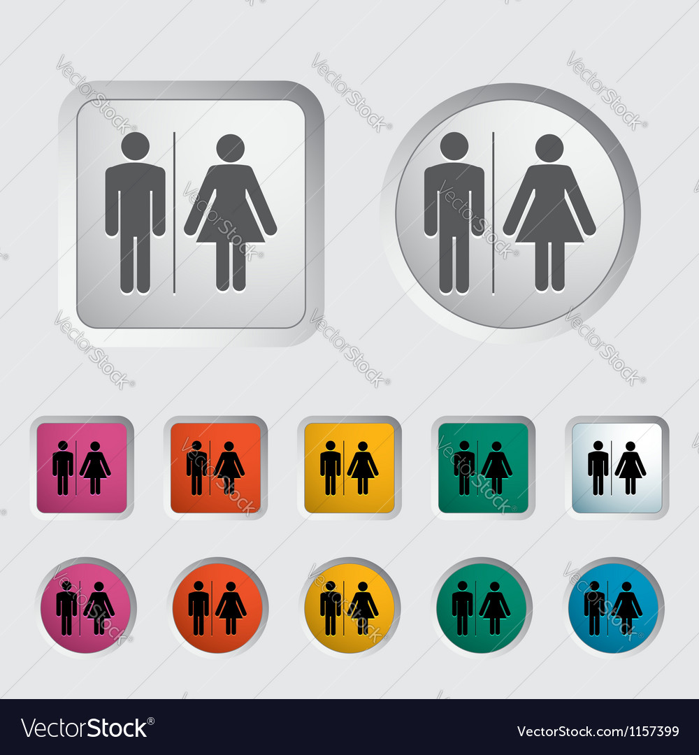Wc single icon vector | Price: 1 Credit (USD $1)